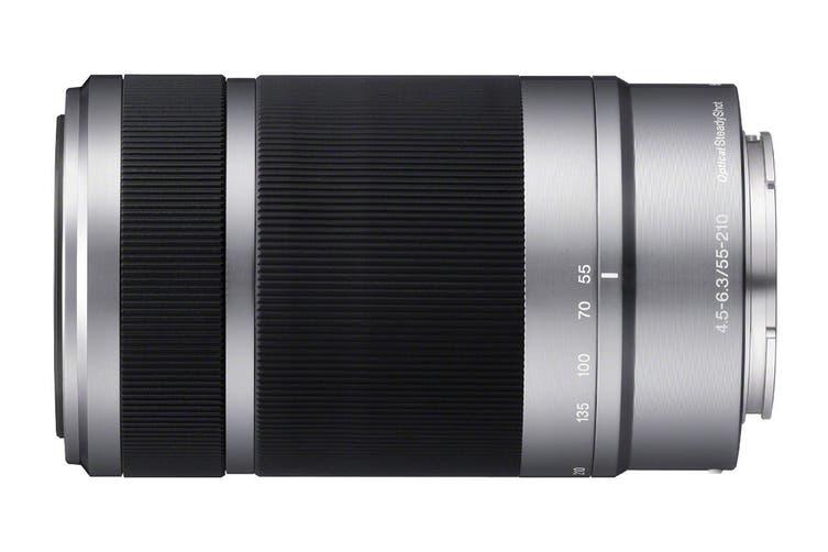 Sony SEL55210 E55-210mm F4.5-6.3 OSS Zoom Lens (Silver)