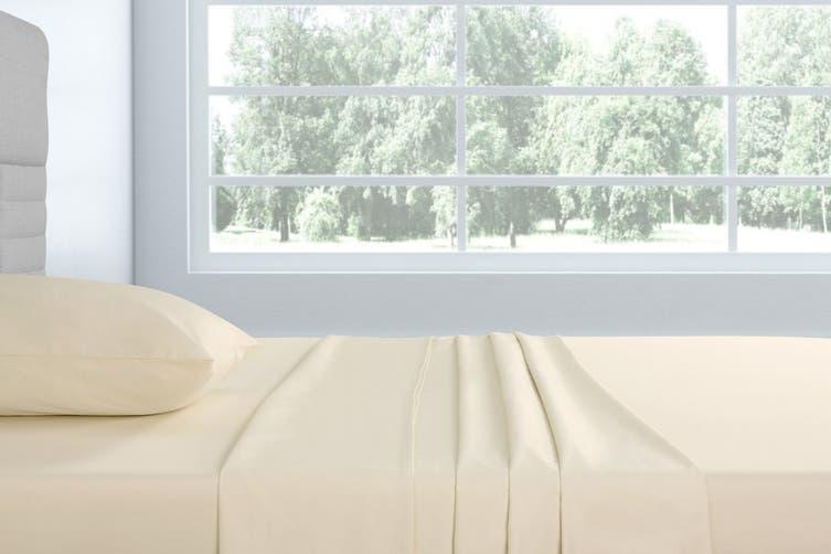 Trafalgar 1500TC Cotton Rich Luxury Bed Sheet Set (Queen, Ivory)