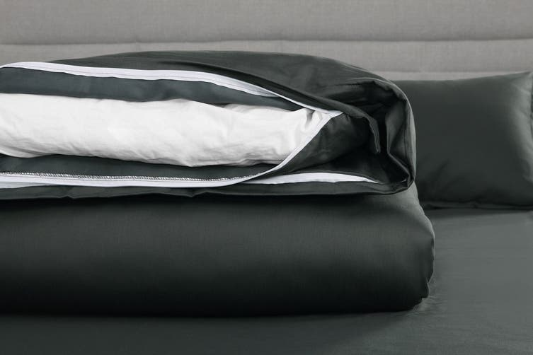 Trafalgar 1500TC Cotton Rich Luxury Quilt Cover Set (King, Charcoal)