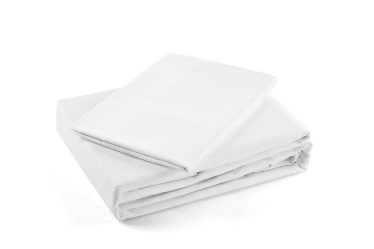 Trafalgar 1500TC Cotton Rich Luxury Quilt Cover Set (Queen, White)