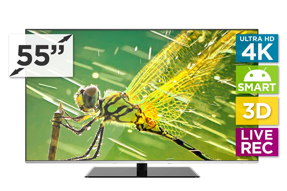 "LED Televisions - Kogan 55"" Agora 4K Smart 3D LED TV (Ultra HD)"