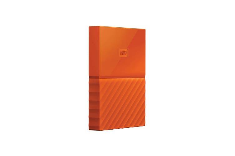 WD My Passport 1TB USB 3.0 Portable Hard Drive - Orange (WDBYNN0010BOR-WESN)
