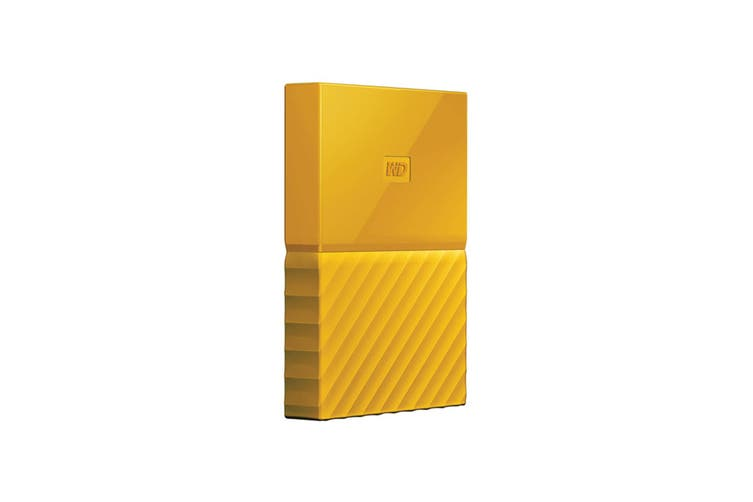 WD My Passport 4TB USB 3.0 Portable Hard Drive - Yellow (WDBYFT0040BYL-WESN)