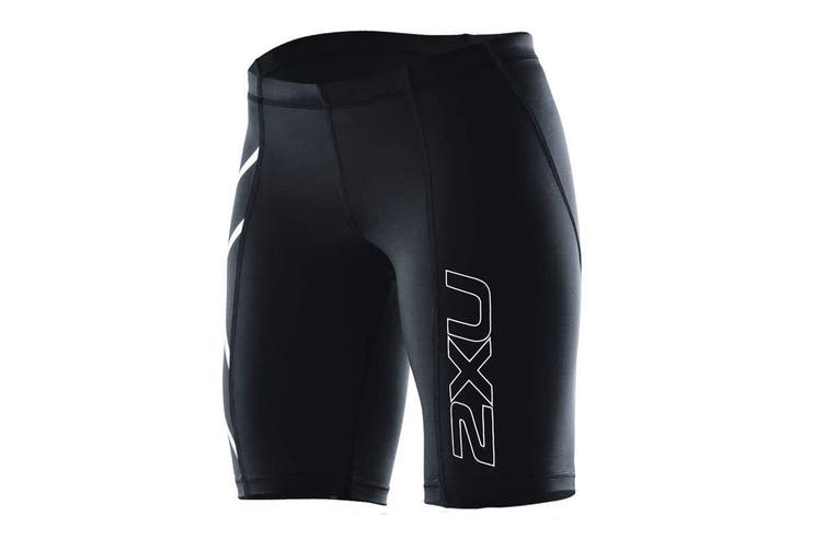2XU Women's Compression Short G1 (Black/Black, Size S)