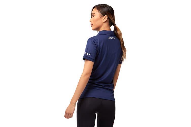 2XU Women's Performance Polo (Navy/Navy, Size XS)