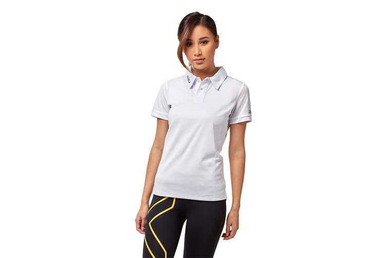2XU Women's Performance Polo (White/White, Size XS)