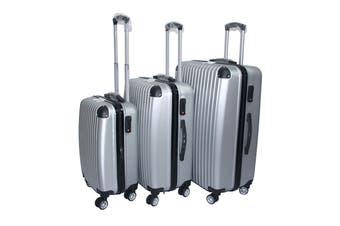 Milano Slimline Luggage 3 Piece Set (Silver)