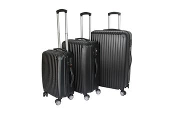 Milano Slimline Luggage 3 Piece Set (Black)