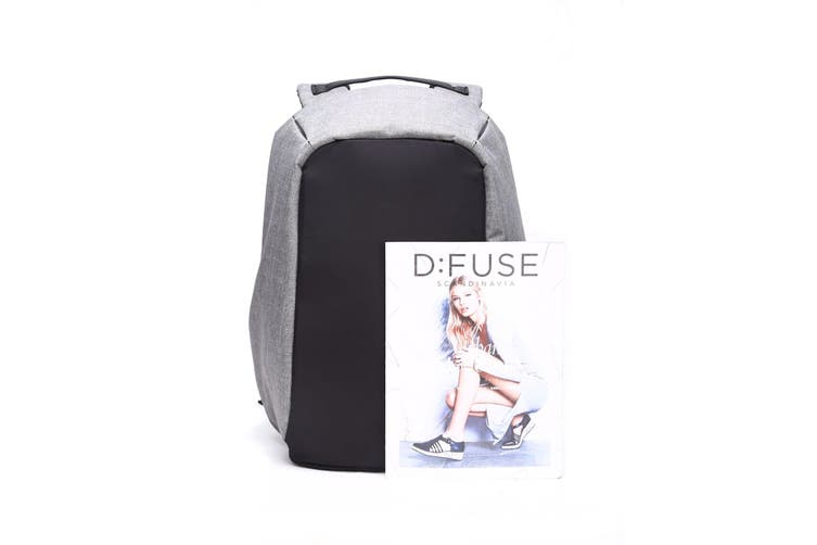 Milano Anti Theft Backpack with USB Port (Grey)