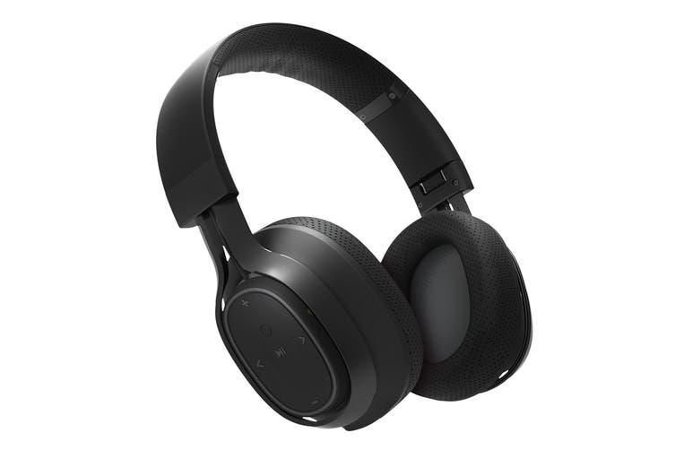 BlueAnt Pump ZONE Wireless Bluetooth Over Ear HD Audio Headphones - Black