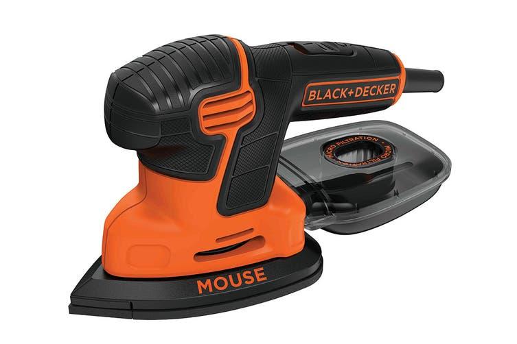 Black & Decker 120W Mouse Detail Sander with 9 Accessories (KA2500K-XE)