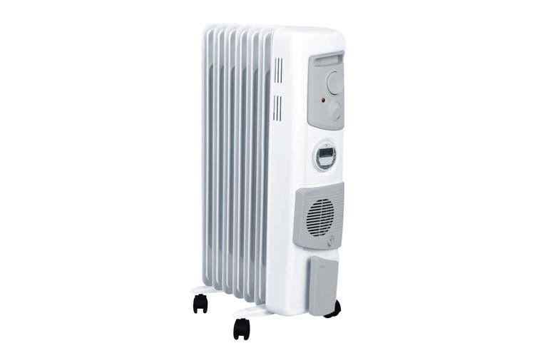 Dimplex 1.5kW Freestanding Oil Column Heater w/Timer & Turbo Fan - Arctic White (OFC1500TIFW)