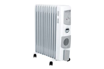 Dimplex 2.4kW Freestanding Oil Column Heater with Timer & Turbo Fan - Arctic White (OFC2400TIFW)