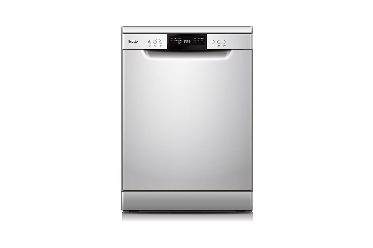 Esatto 60cm Freestanding Dishwasher with Cutlery Drawer - Stainless Steel