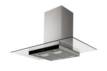 Esatto 90cm Flat Glass Canopy Rangehood (RH94G)