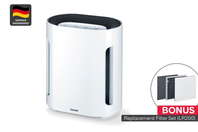 Beurer Triple Filter Air Purifier with BONUS Replacement Filter Set (LR200)