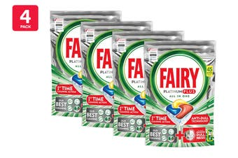 Fairy Dishwashing Tablets Platinum Plus - Lemon (180 Pack)