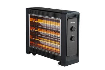 Heller 2400W Quartz Radiant Heater with Fan Assist - Black (HRH2400FG)
