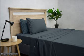 Apartmento Micro Flannel Sheet Set (Navy/King)