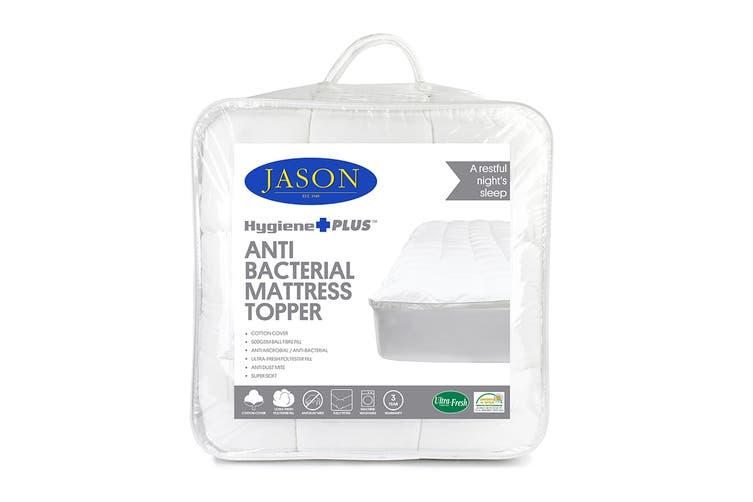Jason Anti-Bacterial Mattress Topper (Double) with Bonus Pillow Pack