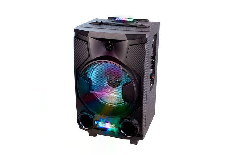 Laser Portable Bluetooth Speaker w/Karaoke, Fm Radio, MP3 Player (SPK-F220)