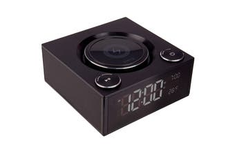 Laser Qi Wireless Charging Alarm Clock with Bluetooth Speaker (SPK-QC002)
