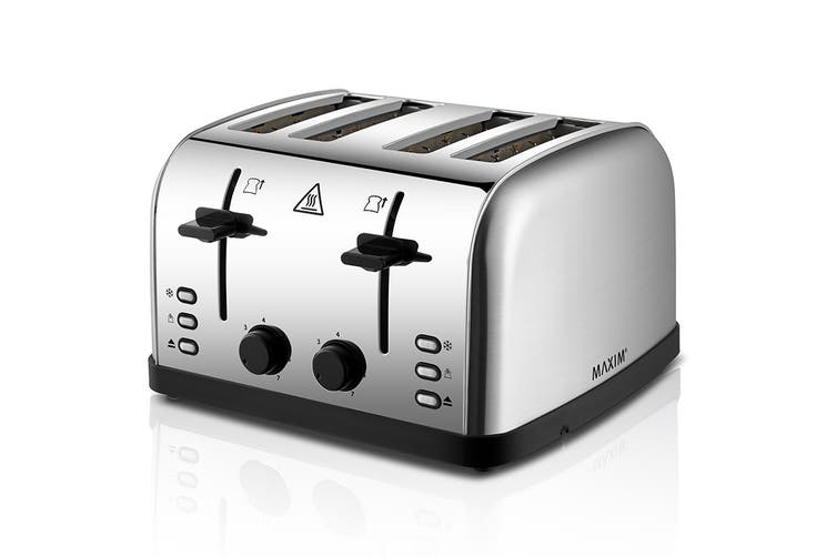 Maxim 4 Slice Automatic Stainless Steel Toaster (KPT4S)