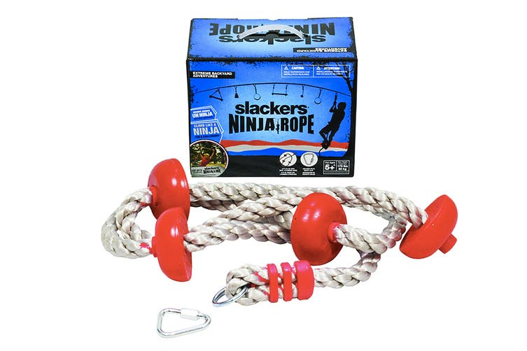 Slackers 8' Ninja Climbing Rope with Foot Holds