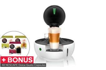 NESCAFE Dolce Gusto Drop Automatic Capsule Coffee Machine with BONUS 48 Capsules - White (NCU700WHT)