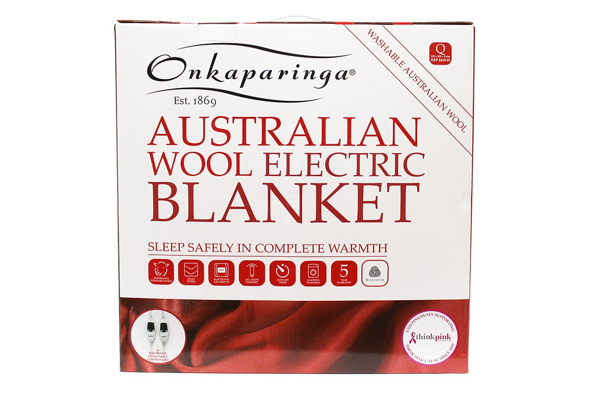 Onkaparinga Australian Wool Electric Blanket (King)