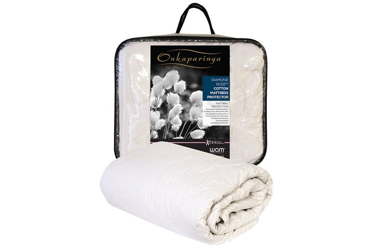 Onkaparinga Diamond Rose Cotton Mattress Protector (King)