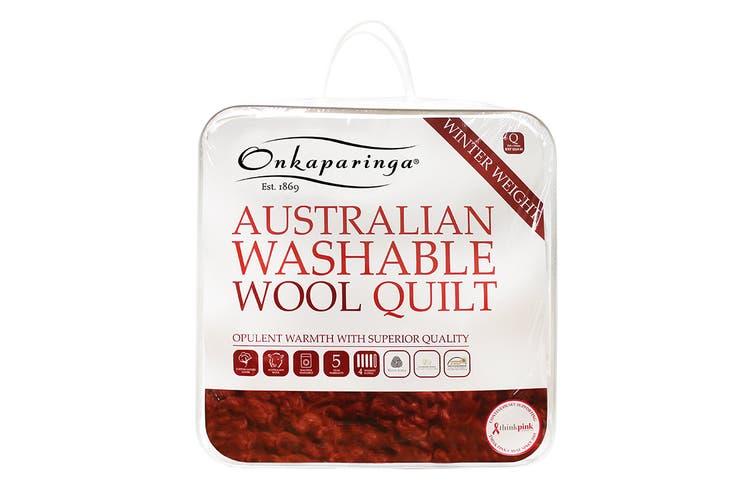 Onkaparinga Australian Wool Washable Winter Quilt (Queen)