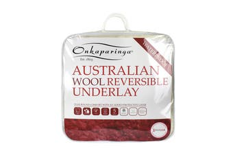 Onkaparinga Reversible Water Proof Australian Wool Underlay (Queen)
