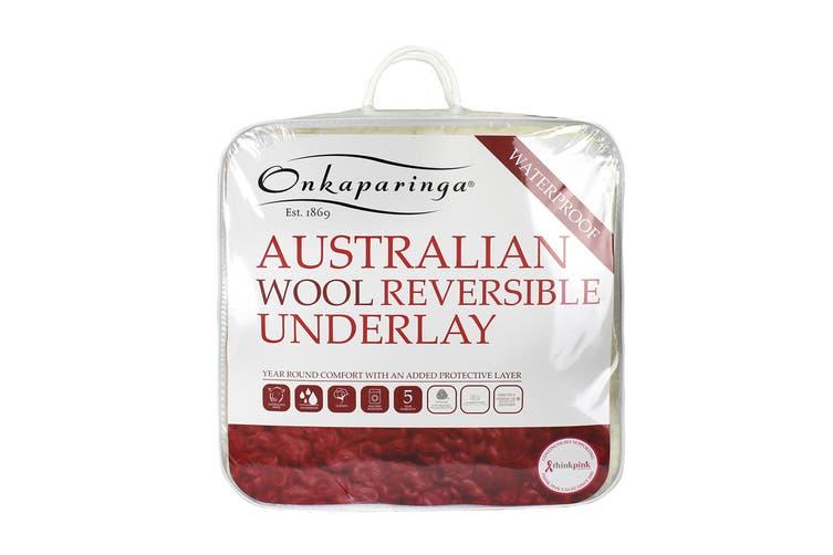 Onkaparinga Reversible Water Proof Australian Wool Underlay (Queen)
