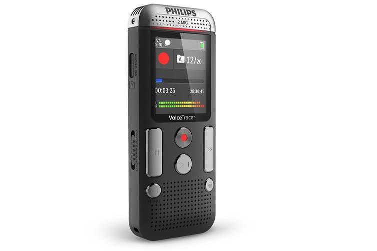 Philips 8GB 2 Mic Voice Tracer Audio Recorder (DVT2510)