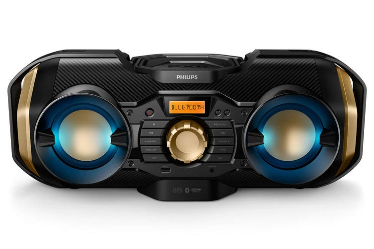 Philips 50W CD Soundmachine with Bluetooth and Dynamic Light (PX840T)