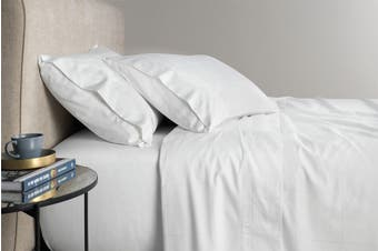 Sheridan Freedman 300TC Cotton Sateen Sheet Set (White, Queen)