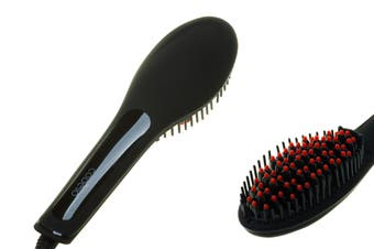Cabello Glow Hair Straightening Brush (Matte Black)