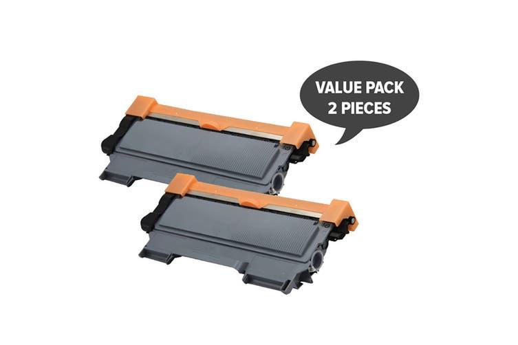 TN-2250 Black Premium Generic Cartridge (Two Pack)
