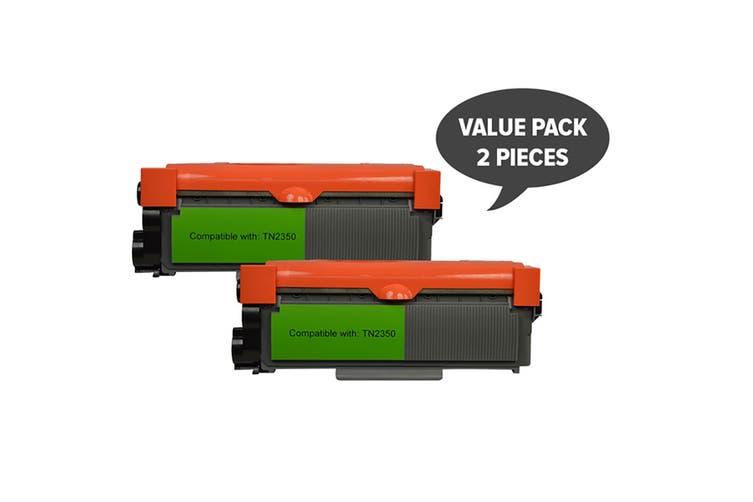 TN-2350 Premium Generic Toner Cartridge (Two Pack)