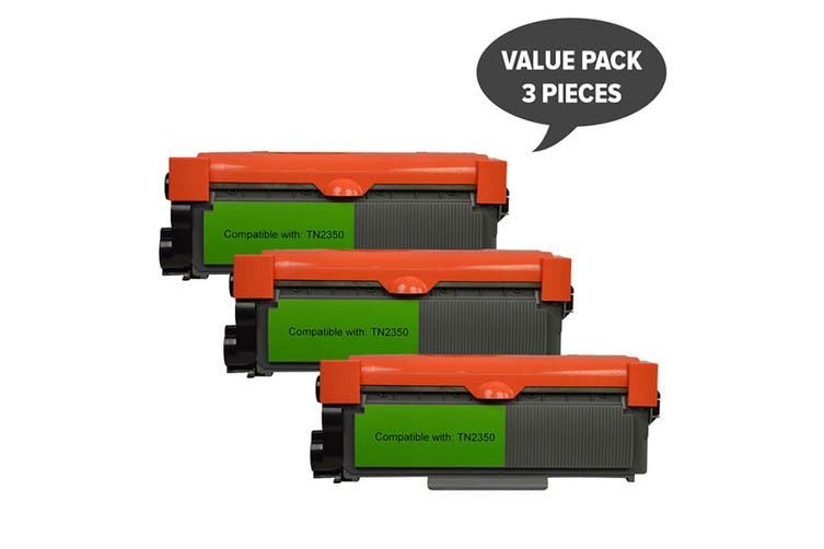 TN-2350 Premium Generic Toner Cartridge (Three Pack)