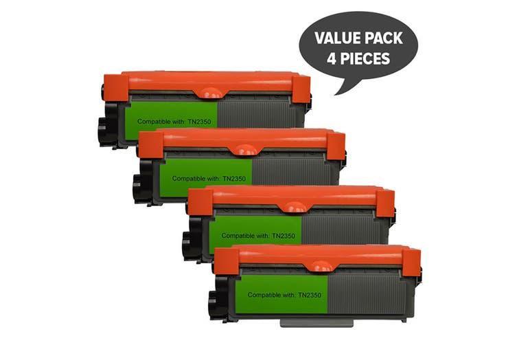 TN-2350 Premium Generic Toner Cartridge (Four Pack)