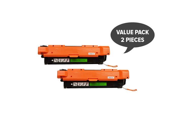 CE250X #504X Black Premium Generic Toner (Two Pack)