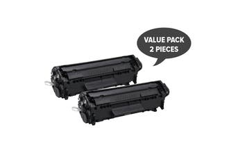 Q2612A #12A Cart-303 Premium Generic Toner (Two Pack)
