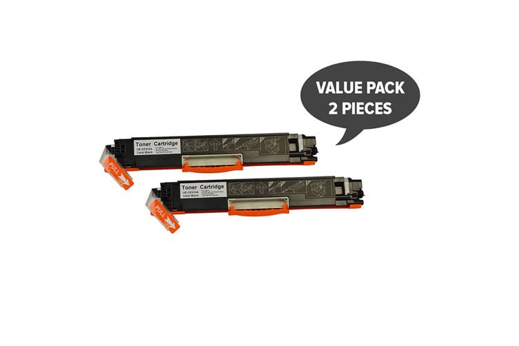 CE310A #126A Cart329 Black Premium Generic Toner (Two Pack)