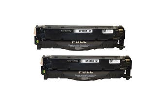 CF380X #312X Premium Generic Remanufactured Black Toner (Two Pack)