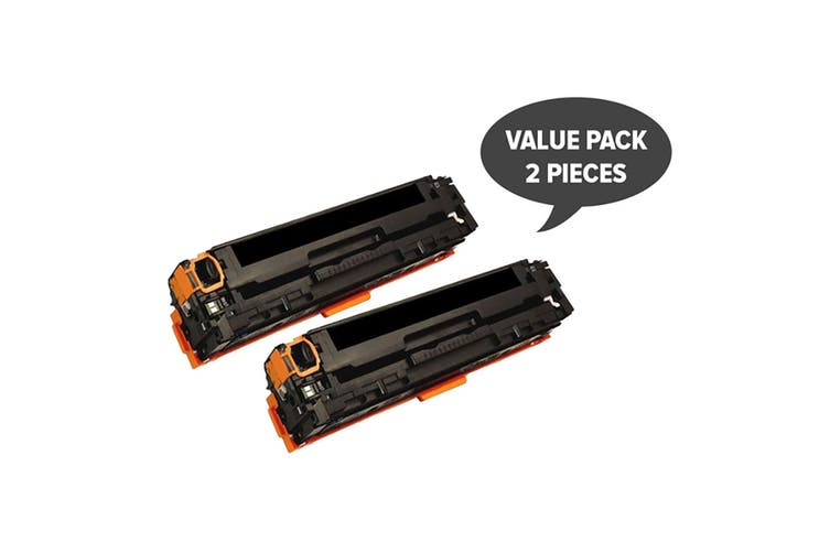 CART-316BK CB540A #125A CART-416BK Black Premium Generic Toner (Two Pack)