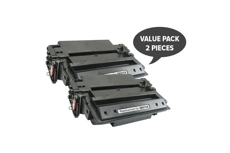 Q6511X HP #11X  Premium Generic Toner Toner (Two Pack)