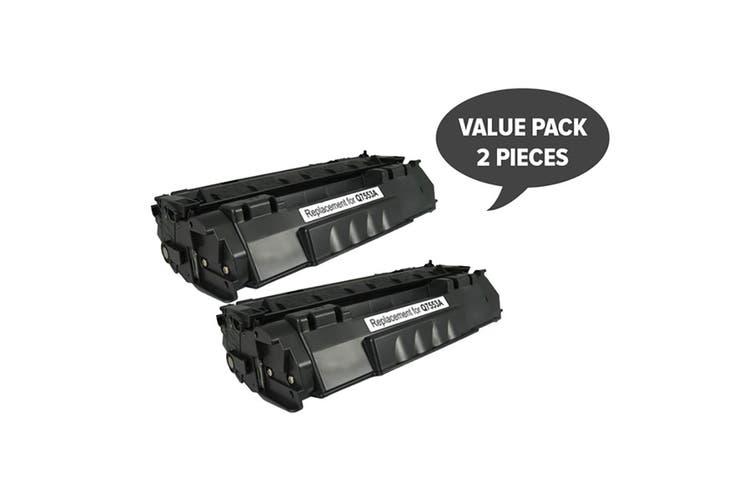 Q7553A Q5949 CART315i CART 308i Black Premium Toner (Two Pack)