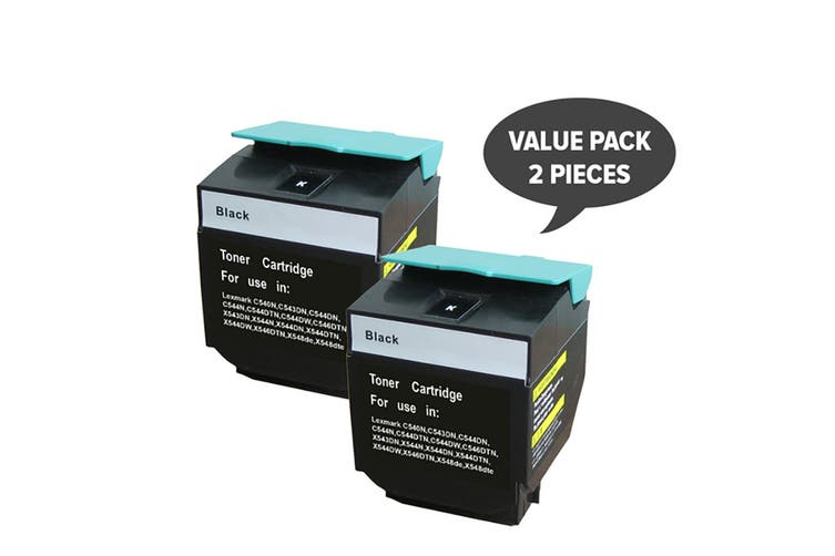 C540HIKG Premium Generic Black Toner (Two Pack)